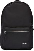 Diesel Black Nylon Drum Roll Backpack