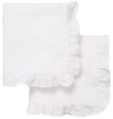 Melange Home Linen-Blend Ruffle Euro Shams (Set of 2)