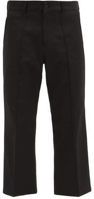 Noma t.d. Blue-striped Cotton-blend Wide-leg Jeans - Black Blue