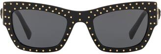 Versace Eyewear studded cat-eye sunglasses