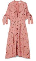 Faithfull The Brand - Nina Floral-print Crinkled-crepe Midi Dress - Antique rose