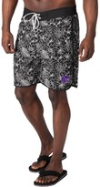 G Iii Men's G-III Sports by Carl Banks Black Kansas State Wildcats Wave Volley Swim Shorts
