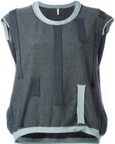 Boboutic - patch detail top - women - Cotton/Polyester/Viscose - S