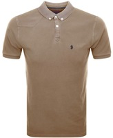Luke 1977 Basking Polo T Shirt Beige