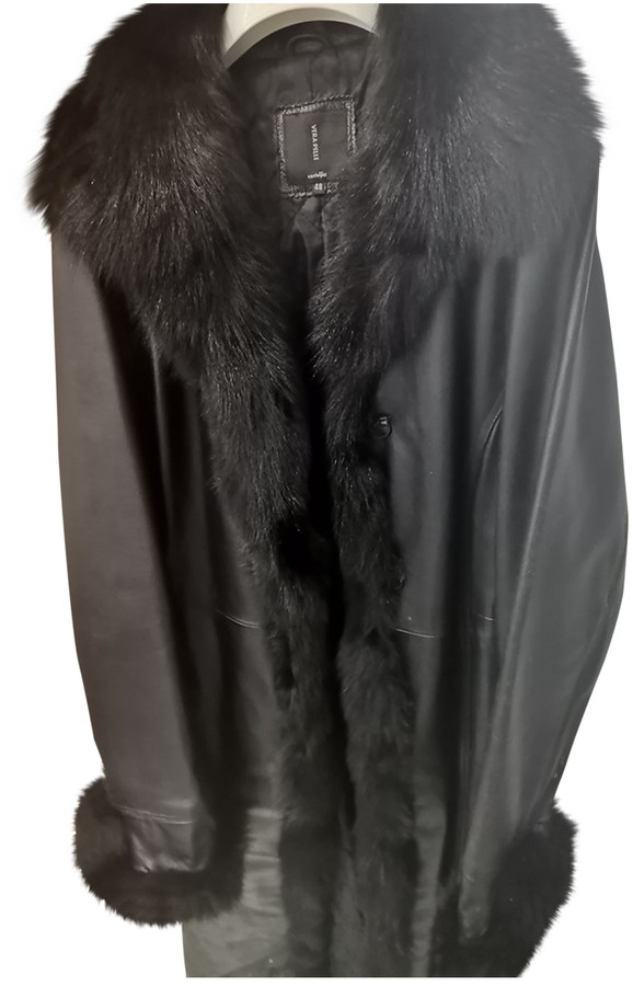 Thumbnail for your product : Linea Pelle Black Leather Coats