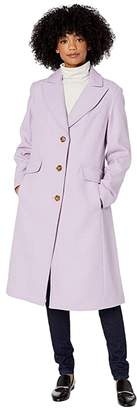 Kate Spade Single Breasted Wool Coat (Lavender Frost) Women's Clothing