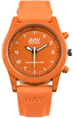 Bay Watches ClockAnalog Bracelet for Men and Women Orange South Beach