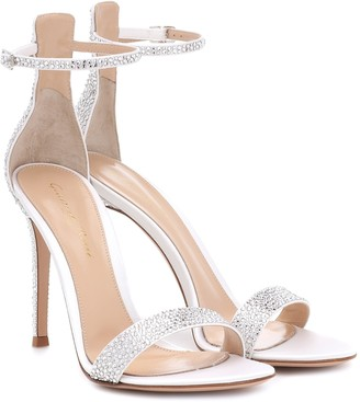 Gianvito Rossi Glam 105 embellished satin sandals