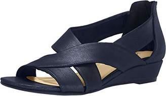 Easy Street Shoes Women's Carol Dress Casual Sandal with Back Zipper Wedge