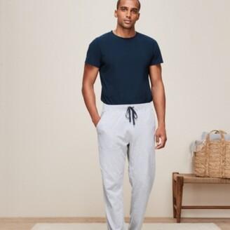 The White Company Men's Pyjama Bottoms, Mid Grey Marl, Large