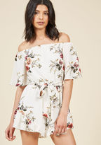 ModCloth Lead With Leisure Floral Romper in S
