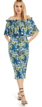 INC International Concepts Inc Off-The-Shoulder Ruffled Dress, Created for Macy's