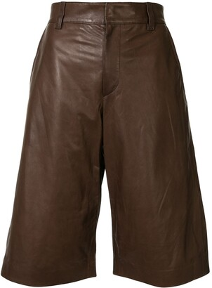 Brunello Cucinelli Faux Leather Knee-Length Shorts