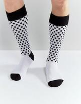 Dr Martens Polka Dot Socks White
