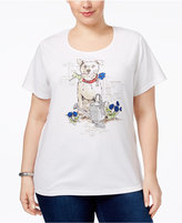 Karen Scott Plus Size Dog Graphic T-Shirt, Only at Macy's