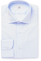 Dunhill Blue Slim-fit Striped Cotton Shirt