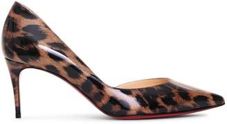 Christian Louboutin Iriza 70 patent glitter leo pumps