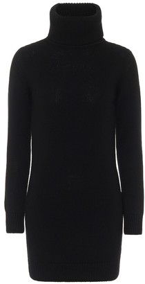 Saint Laurent Cashmere turtleneck sweater dress