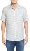 Tommy Bahama Men's Check Stamos Standard Fit Linen Sport Shirt