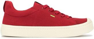 Cariuma IBI Low Raw Red Knit Sneaker