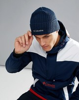 Columbia Logo Embroid Watch Beanie In Navy