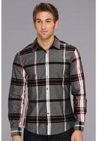 Ecko Unlimited The Derailed L/S Shirt (Pinot Noir) - Apparel