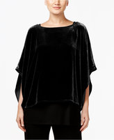 Eileen Fisher Velvet Ballet-Neck Top