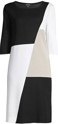 Misook, Plus Size Petite Colorblock Sheath Dress