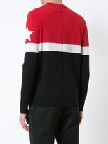 Givenchy star patch paneled jumper - men - Polyester/Wool - S