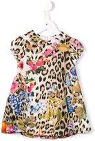 Roberto Cavalli leopard & floral print dress