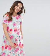 Asos Petite Photographic Floral Swing Dress