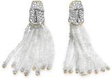 John Hardy Diamond 18k yellow gold moonstone beaded tassel earrings