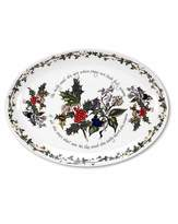 Portmeirion Holly & Ivy Oval Platter