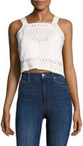Blank NYC Women's Cotton Embroidered Top