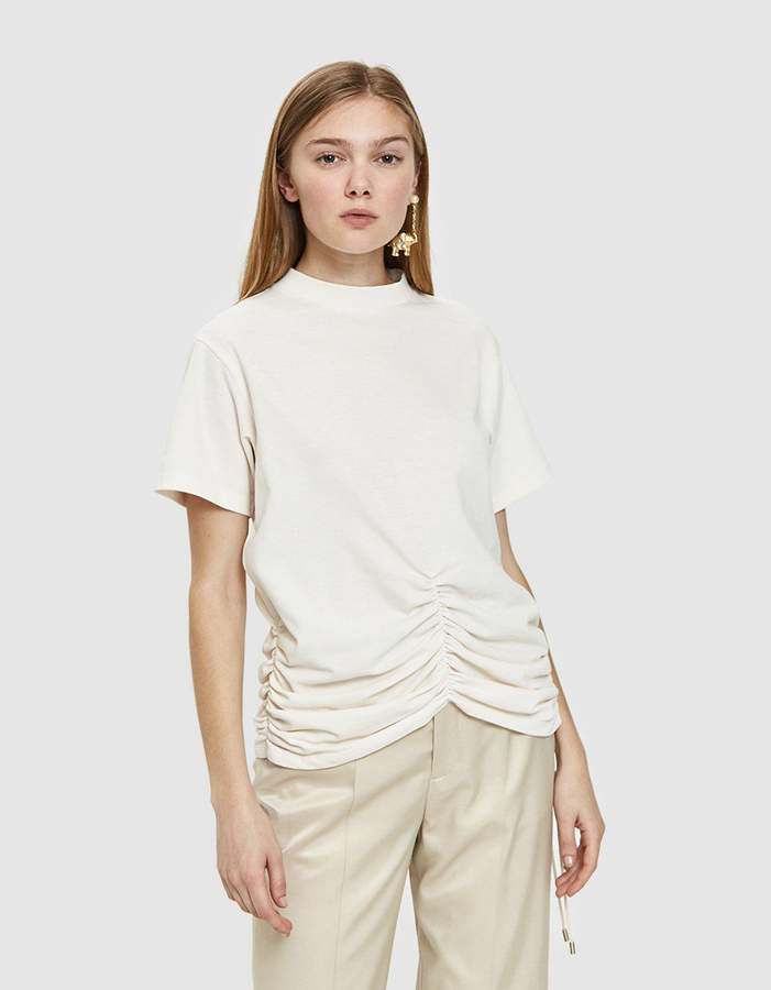 Carven Lace-Up Ruched Detail T-Shirt