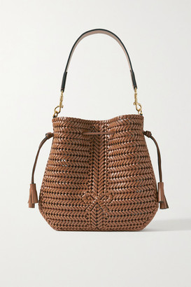Anya Hindmarch Neeson Hobo Woven Leather Shoulder Bag - Light brown