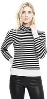 Banana Republic Stripe Aire Yarn Turtleneck Sweater