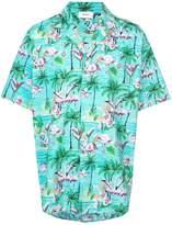 Rhude flamingo print shirt