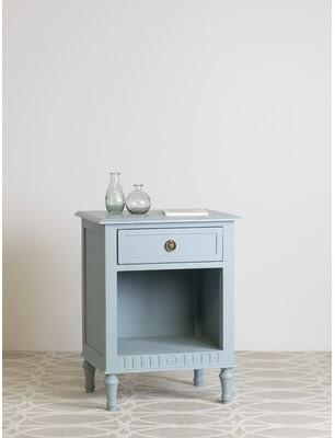 Ophelia & Co. Jaren 1 Drawer Nightstand Color: Blue