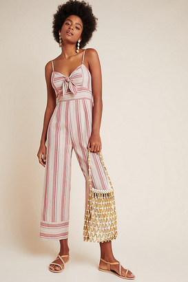 J.o.a. Lisanna Tie-Front Jumpsuit By in Pink Size S