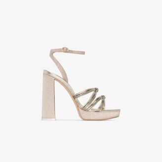 Sophia Webster gold Freya 125 platform sandals