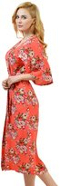 Remedios Kimono Robes Floral Party Nightgowns Long Sleepwear Lounge,Pink