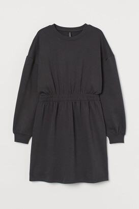 H&M H&M+ Sweatshirt Dress - Gray