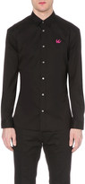McQ by Alexander McQueen Embellished swallow cotton shirt