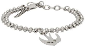 McQ Silver Swallow Skull Bracelet