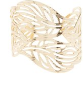 Charlotte Russe Etched Cuff & Earthy Rings Set