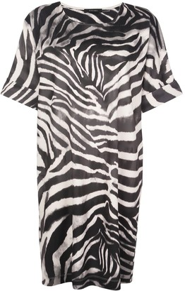 Natori zebra print midi dress