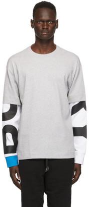 Burberry Grey Fernford Layered Long Sleeve T-Shirt