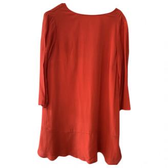 Sessun Red Silk Dress for Women