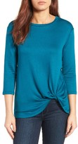 Bobeau Women's Twist Hem Sweatshirt